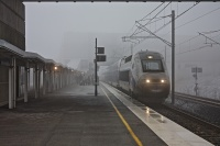 Gare Belfort TGV dans le brouillard