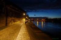 Bord du Rhône à Arles
