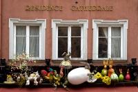 Fenêtre décorée à Strasbourg