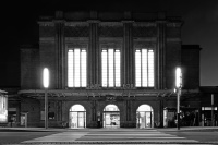 Gare de Belfort - Nuit - Noir & Blanc