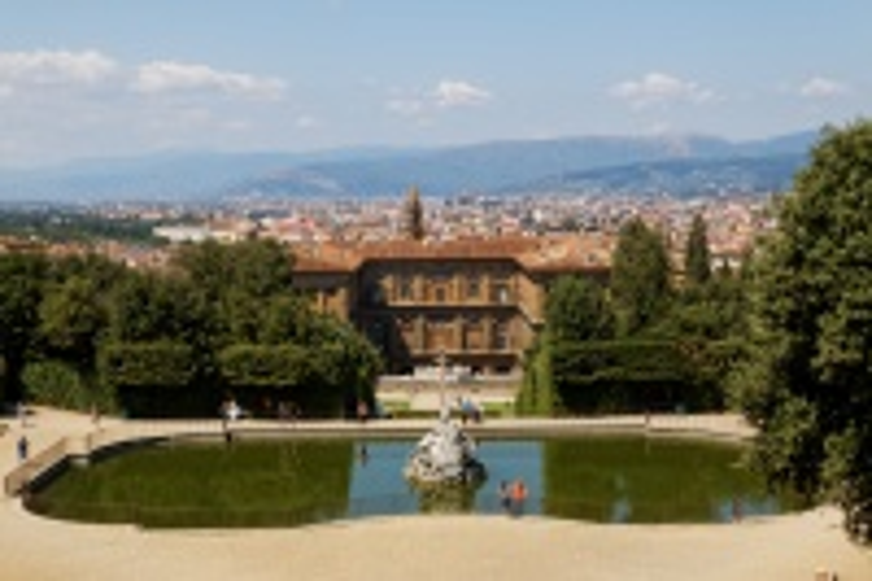 Palais PITTI depuis les jardins de BOBOLI _ FLORENCE
